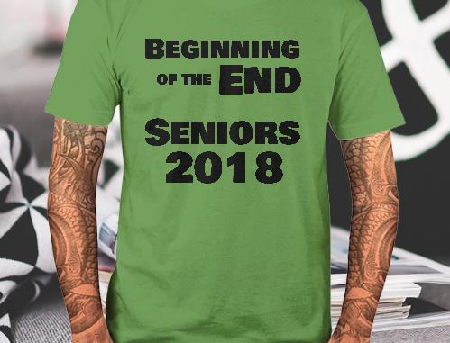Seniors Class of 2018 Shirts Graduation Class Tees School Spirit Colors